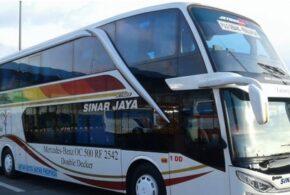 Bus Solo Jakarta Pulo Gebang PO Sinar Jaya