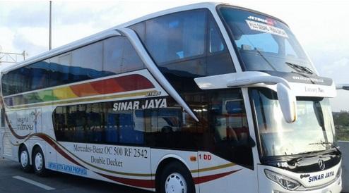 Harga Tiket Bus Sinar Jaya dari Berbagai Jurusan 2020